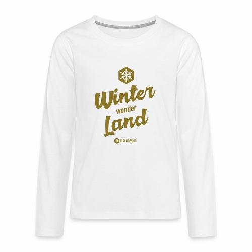 Winter Wonder Land - Teinien premium pitkähihainen t-paita