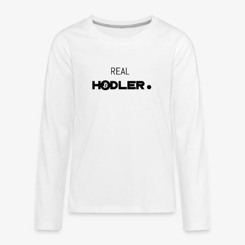 HODL-real-btc-b - Teenagers' Premium Longsleeve Shirt