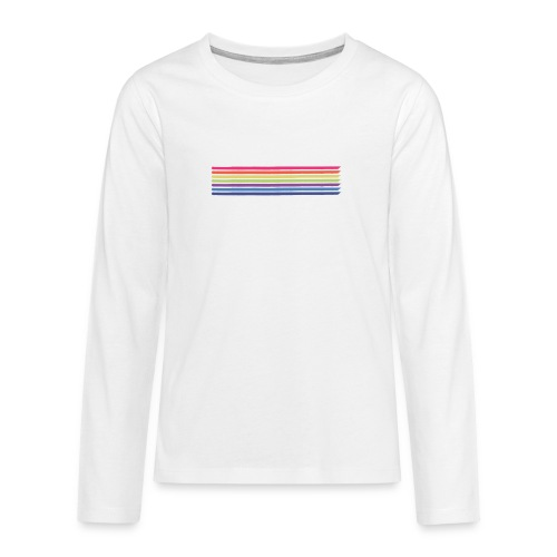Colored lines - Teenagers' Premium Longsleeve Shirt