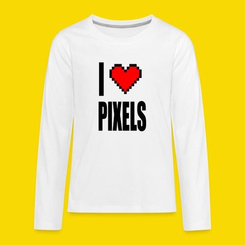 I Love Pixels - Koszulka Premium z długim rękawem dla nastolatków