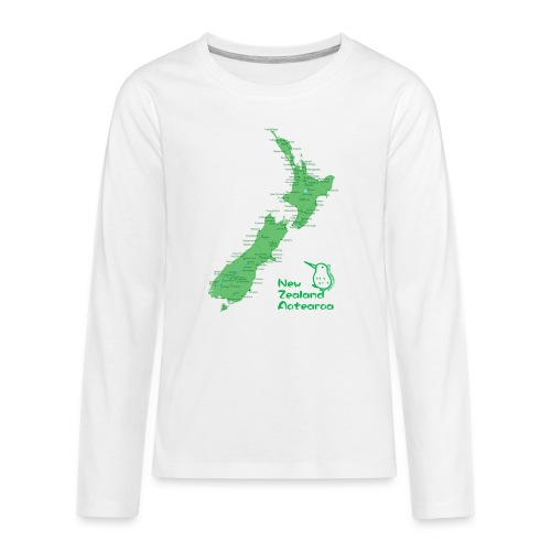 New Zealand's Map - Teenagers' Premium Longsleeve Shirt