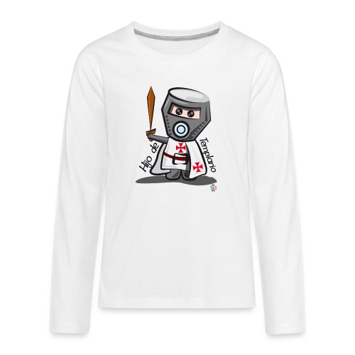 Hijo de templario (Casco) - Camiseta de manga larga premium adolescente