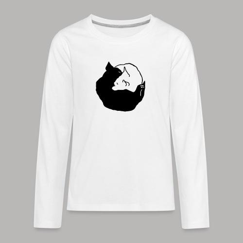 YinYang - Teenager Premium Langarmshirt