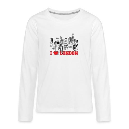 I LOVE LONDON SKYCRAPERS - Camiseta de manga larga premium adolescente