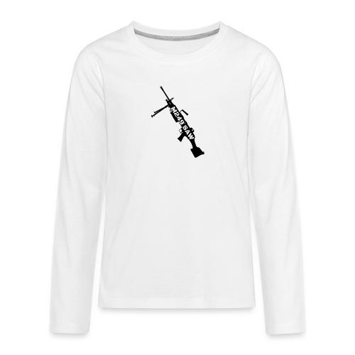 M249 SAW light machinegun design - Teenager Premium shirt met lange mouwen