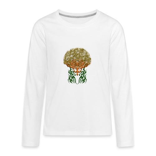Golden Brain - Teenager Premium Langarmshirt