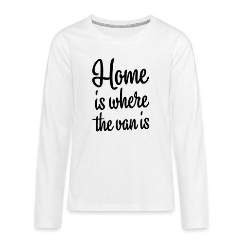 camperhome01b - Premium langermet T-skjorte for tenåringer