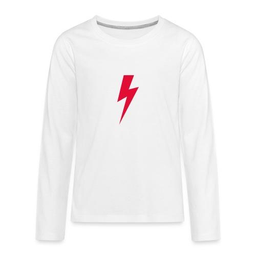 Błyskawica polannd ppro choice women rights - Koszulka Premium z długim rękawem dla nastolatków