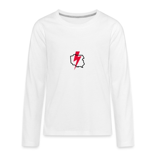 Poland thunder. Protest Ppolka - Koszulka Premium z długim rękawem dla nastolatków