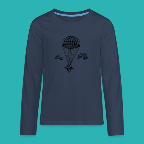 Veleggiare_o_precipitare-png - Maglietta Premium a manica lunga per teenager
