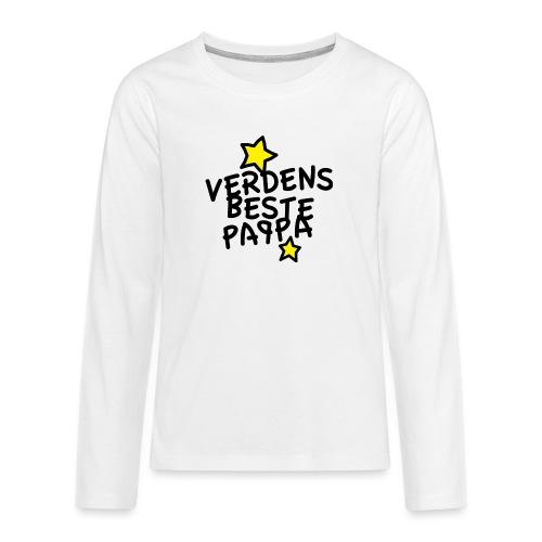 Verdens beste pappa - Premium langermet T-skjorte for tenåringer
