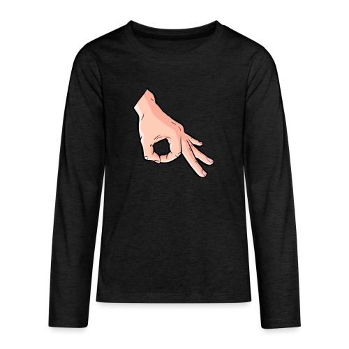 The Circle Game Ok Emoji Meme - Teenagers' Premium Longsleeve Shirt