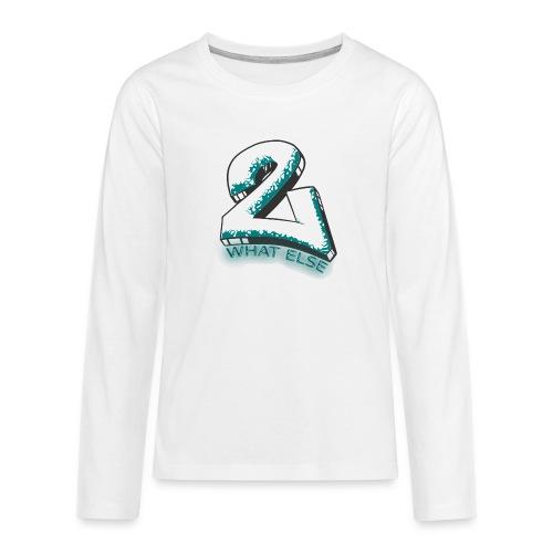 77 what else - Teenager Premium Langarmshirt