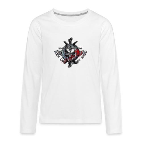 Blood Skull Logo - Långärmad premium T-shirt tonåring