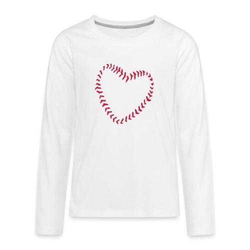 2581172 1029128891 Baseball Heart Of Seams - Teenagers' Premium Longsleeve Shirt