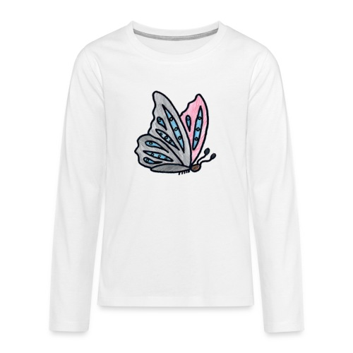 Fjäril - Långärmad premium T-shirt tonåring