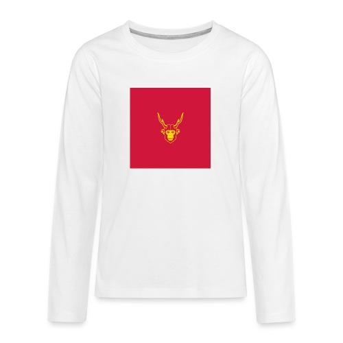 scimmiacervo sfondo rosso - Maglietta Premium a manica lunga per teenager