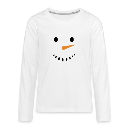 Bonhomme de neige Noël Hiver - T-shirt manches longues Premium Ado