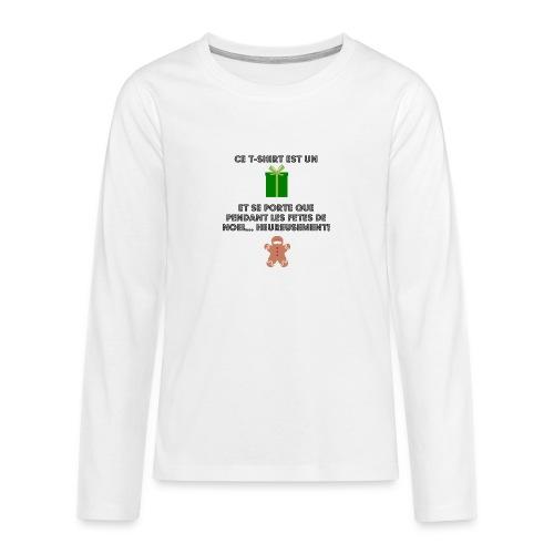 T-shirt cadeau de Noël - T-shirt manches longues Premium Ado