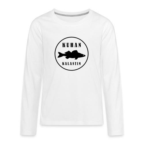 Kuhan kalastin - Teinien premium pitkähihainen t-paita