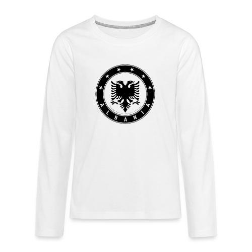 Patrioti Albania Black - Teenager Premium Langarmshirt