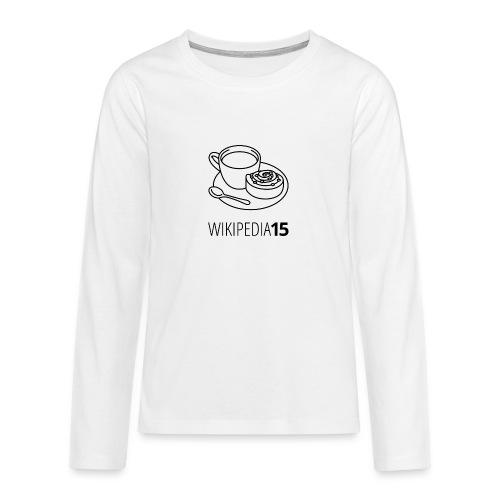 Fika, figursydd, vit - Långärmad premium T-shirt tonåring