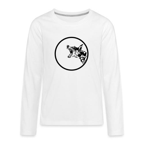 dog in a circle frame - T-shirt manches longues Premium Ado