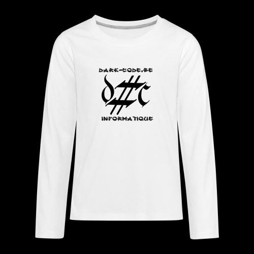 Dark-Code Black Gothic Logo - T-shirt manches longues Premium Ado