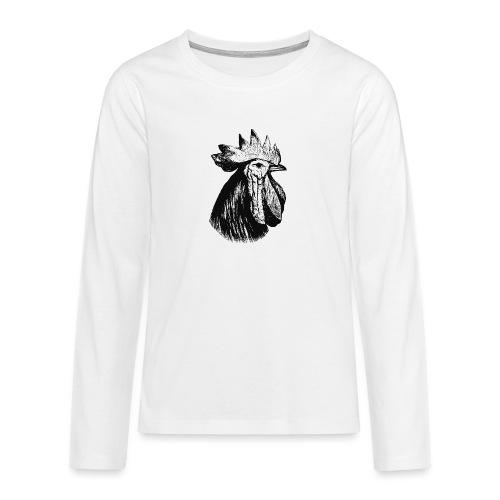 Hahn Kopf - Teenager Premium Langarmshirt