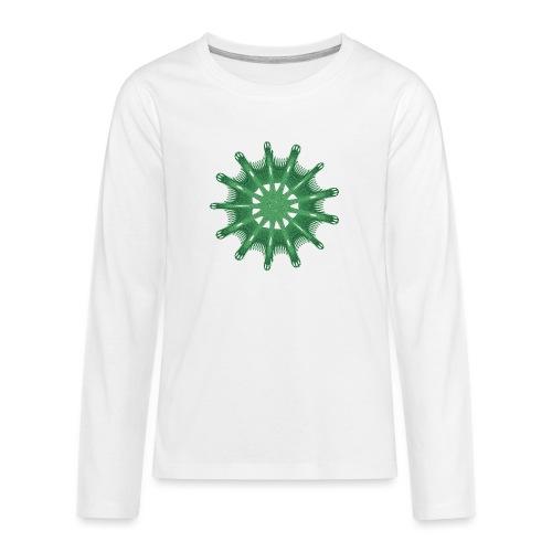 green steering wheel Green starfish 9376alg - Teenagers' Premium Longsleeve Shirt