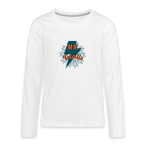 Esempio Logo o Stampa! - Maglietta Premium a manica lunga per teenager