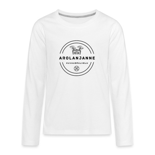Janne Arola - kuva edessä - Teinien premium pitkähihainen t-paita