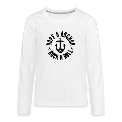 Hope & Anchor - Rock´n´Roll - Teenager Premium Langarmshirt