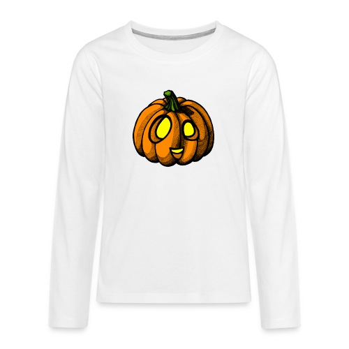 Pumpkin Halloween scribblesirii - Teenager Premium Langarmshirt