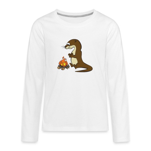 Song of the Paddle; Quentin campfire - Teenagers' Premium Longsleeve Shirt