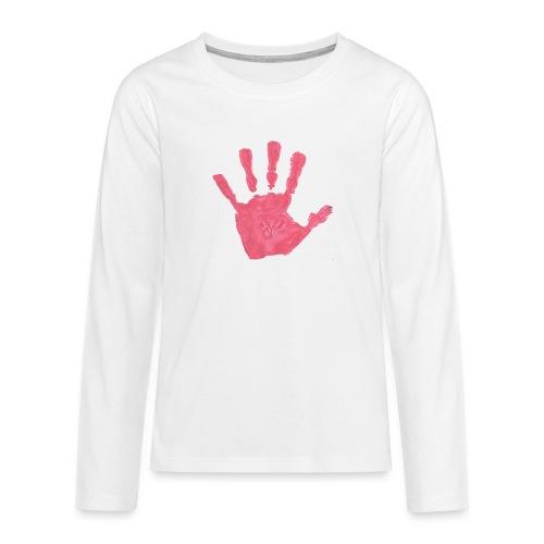 Hand - Långärmad premium T-shirt tonåring