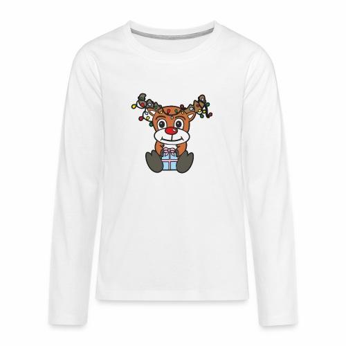 Rentier mit Lichterkette - Teenager Premium Langarmshirt