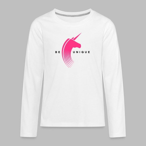 Be unique - Teenager Premium Langarmshirt