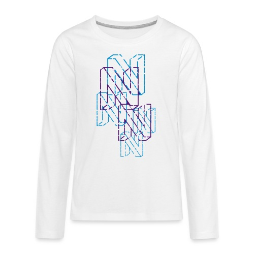 Neos logo back trashed without URL, 2-color - Teenagers' Premium Longsleeve Shirt