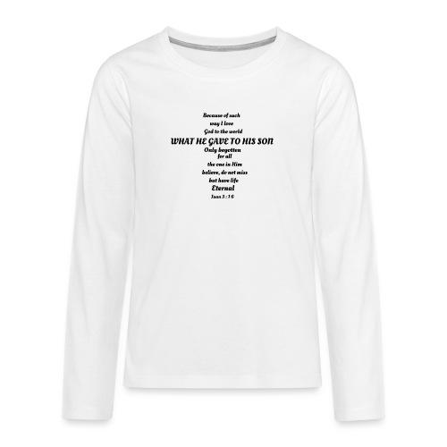 San Juan 3:16 - Camiseta de manga larga premium adolescente