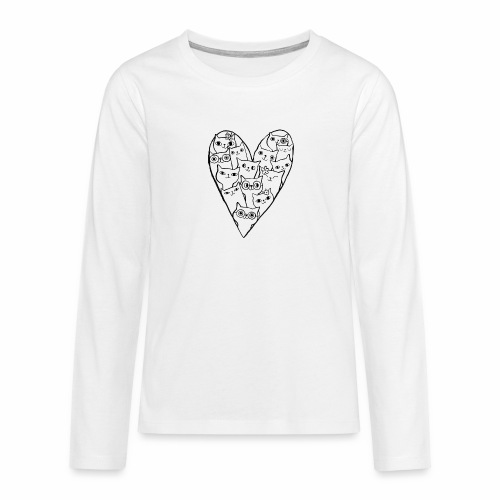 I Love Cats - Teenagers' Premium Longsleeve Shirt