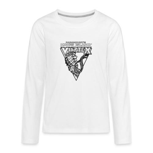 Vortex 1987 2019 Kings Island - Teinien premium pitkähihainen t-paita