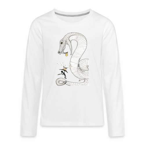 Poison - Fight against a giant poisonous snake - Teenagers' Premium Longsleeve Shirt