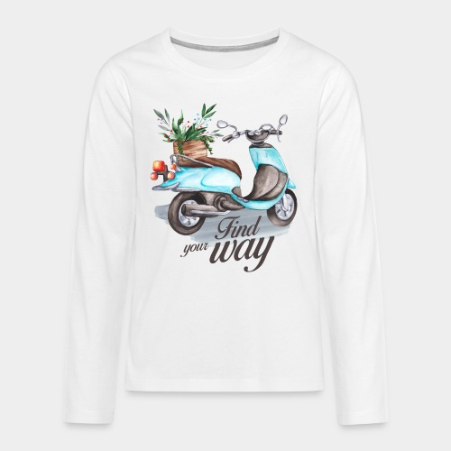 trouvez votre chemin dans la vie - T-shirt manches longues Premium Ado