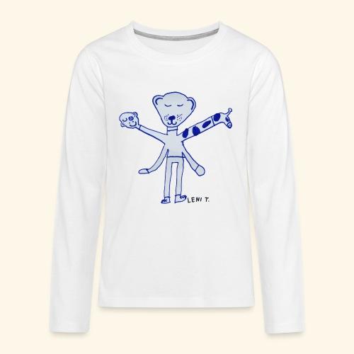 LeniT Teddy With a Twist - Teinien premium pitkähihainen t-paita