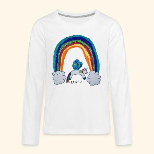 LeniT For Unicorns Only - Teinien premium pitkähihainen t-paita