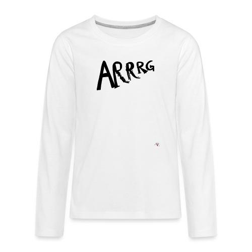 Arrg - Maglietta Premium a manica lunga per teenager