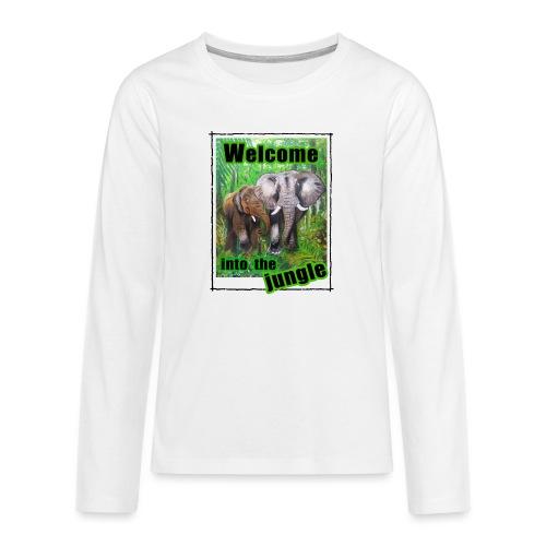 Willkommen im Dschungel - Teenager Premium Langarmshirt