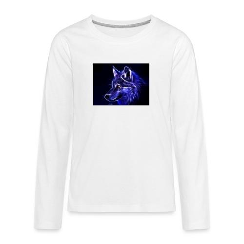 jeff wolf - Premium langermet T-skjorte for tenåringer