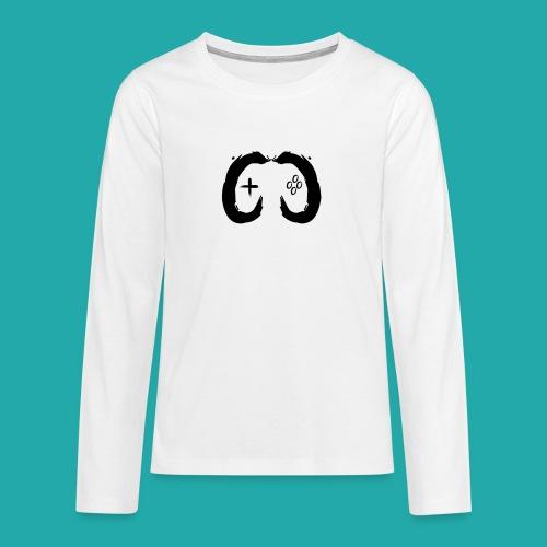 Crowd Control Controller Logo Black Large - Teenagers' Premium Longsleeve Shirt